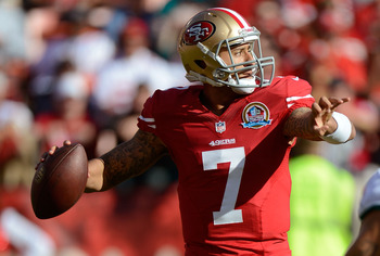 Colin Kaepernick and the 49ers are comfortably in the playoffs and eyeing a bye.