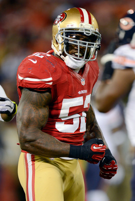 Patrick Willis urges on his teammates.