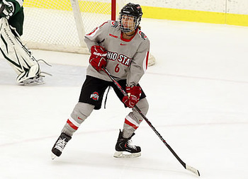 Taylor Kuehl logged her first career hat trick in the historic event (http://minnesotahockeymagazine.wordpress.com/2012/10/31/recognition-rankings-and-records/)