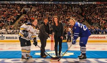 Toronto and Alberta commemorate the landmark agreement with a game at Air Canada Centre (Photo by Brandon Taylor)