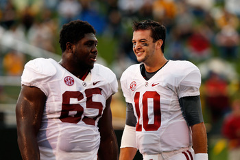 Alabama OT Chance Warmack (left)