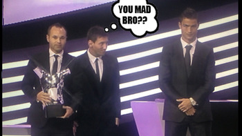 Photo courtsey of http://www.topdrawersoccer.com/the91stminute/2012/08/iniesta-wins-uefa-player-of-the-year-ronaldos-not-impressed/