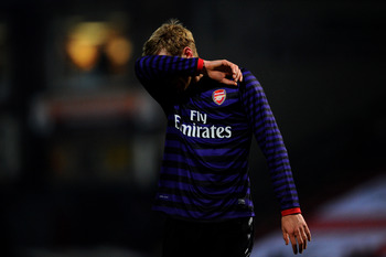 Per Mertesacker against Bradford
