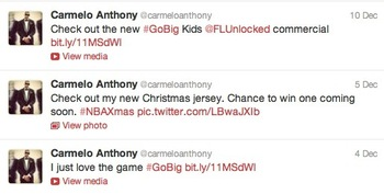 Image via @carmeloanthony