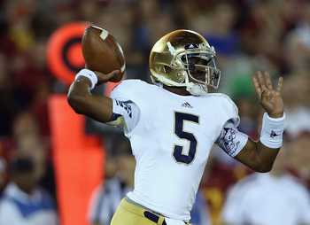 Notre Dame can pass, and they're getting better every day.