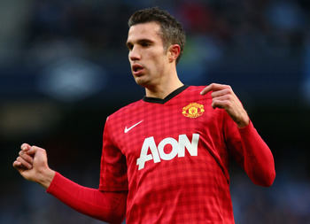 Van Persie has been in outstanding form for Manchester United this season.