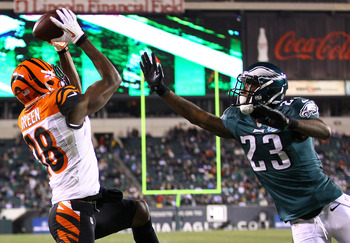 A.J. Green did not have a monster night as some may have thought, but he was the only Bengals receiver to record a catch in tonight's game.