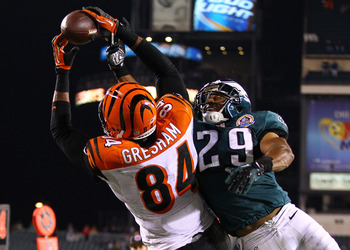 Jermaine Gresham was the Bengals leading receiver tonight and was a great security blanket for quarterback Andy Dalton who was constantly under pressure.