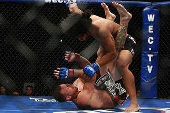 At WEC 43, Ben Henderson and Donald Cerrone engaged in the greatest submission battle in MMA history. Photo c/o MMARatings.com.