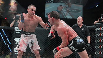 Eddie Alvarez vs. Michael Chandler is easily the greatest lightweight fight in Bellator history. Photo c/o Sherdog.com.