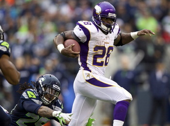 Adrian Peterson is within striking range of 2,000 yards rushing.