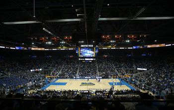 LOS ANGELES, CA - NOVEMBER 09:  A general view of newly renovated Pauley Pavillion during the game between the UCLA Bruins and the Indiana State Sycamores on November 9, 2012 in Los Angeles, California.  UCLA won 86-59.  (Photo by Stephen Dunn/Getty Image