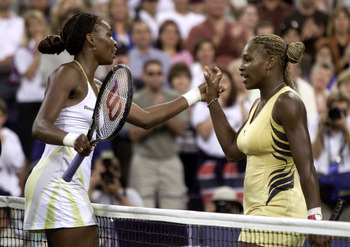 Venus defeats Serena in the siblings' first ever U.S. Open final face-off.