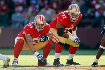 The 49ers' offensive line has had penalties in critical moments over the last 4 weeks