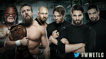 The Shield will take on Team Hell No and Ryback in the only TLC match on Sunday. Photo courtesy of WWE.com