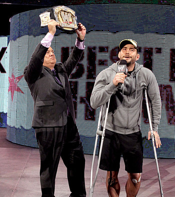 CM Punk's sudden knee injury has thrown a wrench into the WWE's TLC plans. Photo courtesy of WWE.com