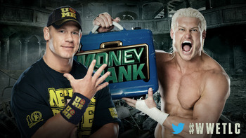 John Cena and Dolph Ziggler will compete for Ziggler's MITB Briefcase on Sunday. Photo courtesy of WWE.com