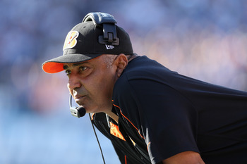Marvin Lewis and the Bengals coaching staff had a very up and down evening against the Eagles.