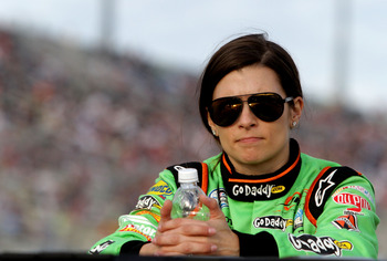 HOMESTEAD, FL - NOVEMBER 17:  Danica Patrick, driver of the #7 GoDaddy.com Chevrolet, looks on prior to the NASCAR Nationwide Series Ford EcoBoost 300 at Homestead-Miami Speedway on November 17, 2012 in Homestead, Florida.  (Photo by Jerry Markland/Getty