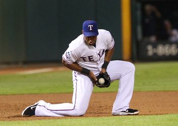 Adrian Beltre of the Texas Rangers.