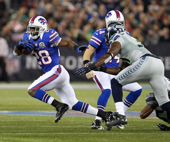 C.J. Spiller rushed for over 100 yards against Seattle today.