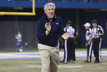 Pete Carroll pulled a bush move faking a punt up by 30 points.