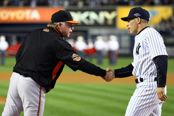 Buck Showalter and Joe Girardi
