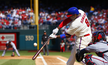 Ryan Howard hitting a homer, Sept. 23.