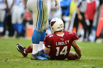 Ryan Lindley was sacked just once in the win.