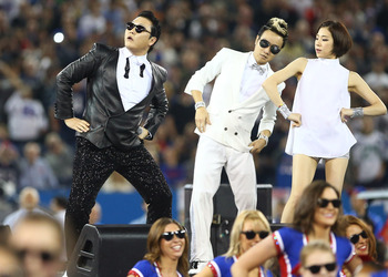 T.J. Graham was going to contribute a picture for his article, but he dropped it. Here's Psy doing his ridiculous dance instead.