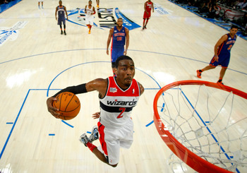 John Wall playing in the BBVA Rising Stars Challenge.