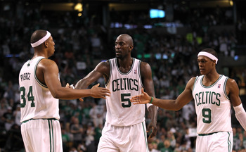 Paul Pierce, Kevin Garnett and Rajon Rondo have work left to do in Boston.