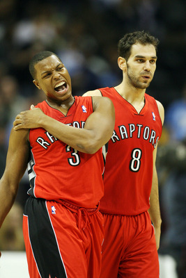Kyle Lowry and Jose Calderon aren't finding much success in Toronto.
