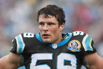Luke Kuechly is No. 2 in the NFL in tackles.
