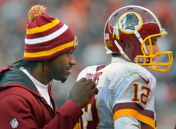 RGIII has Cousins back as much as Kirk has his. (John McDonnell/Washington Post)