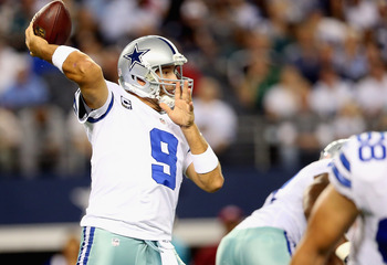Dallas Cowboys quarterback Tony Romo ranks third in NFL passing yards with 4,269.