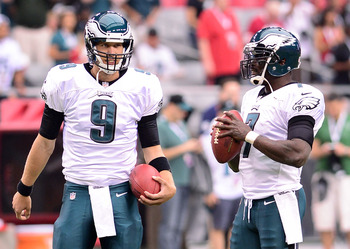 Eagles QBs Nick Foles and Michael Vick have split the 2012 starting duties.