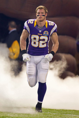 Kyle Rudolph leads the Vikings with eight touchdown receptions.