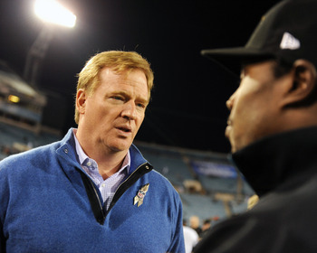 Goodell often finds himself explaining his actions to NFL players and fans.