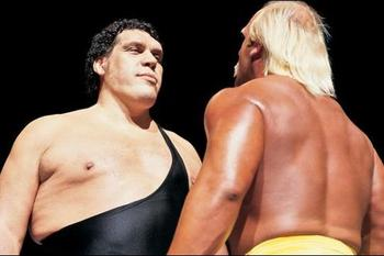 Hulk Hogan and Andre the Giant headlined WrestleMania III Photo by: WWE