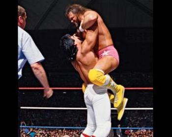 Randy Savage and Ricky Steamboat put one of the greatest matches ever.   Photo by: WWE