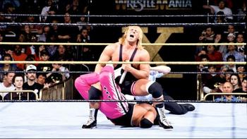 Owen Hart upset his brother, Bret, in the opening match.   Photo by: WWE