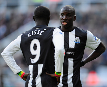 Papiss Cisse and Demba Ba have failed to hit the heights of last season with Newcastle this year