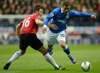 Shaun Maloney fired Wigan to a shock win over Manchester United last season