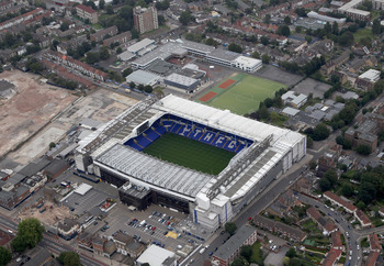 White Hart Lane and the surrounding Tottenham area.