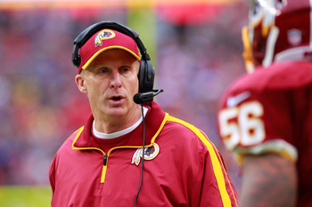 Redskins defensive coordinator Jim Haslett