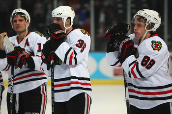 The Blackhawks must get out of the first round in 2013.