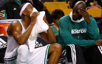 Pierce and Garnett are two of the Celtics' most important players, and also two of their oldest.