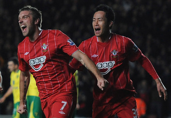 Rickie Lambert (left) has clearly been the player of the year for Southampton in 2012.