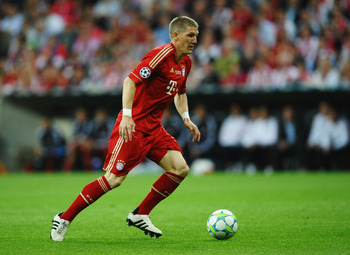 Bastian Schweinsteiger provides the drive for Bayern Munich